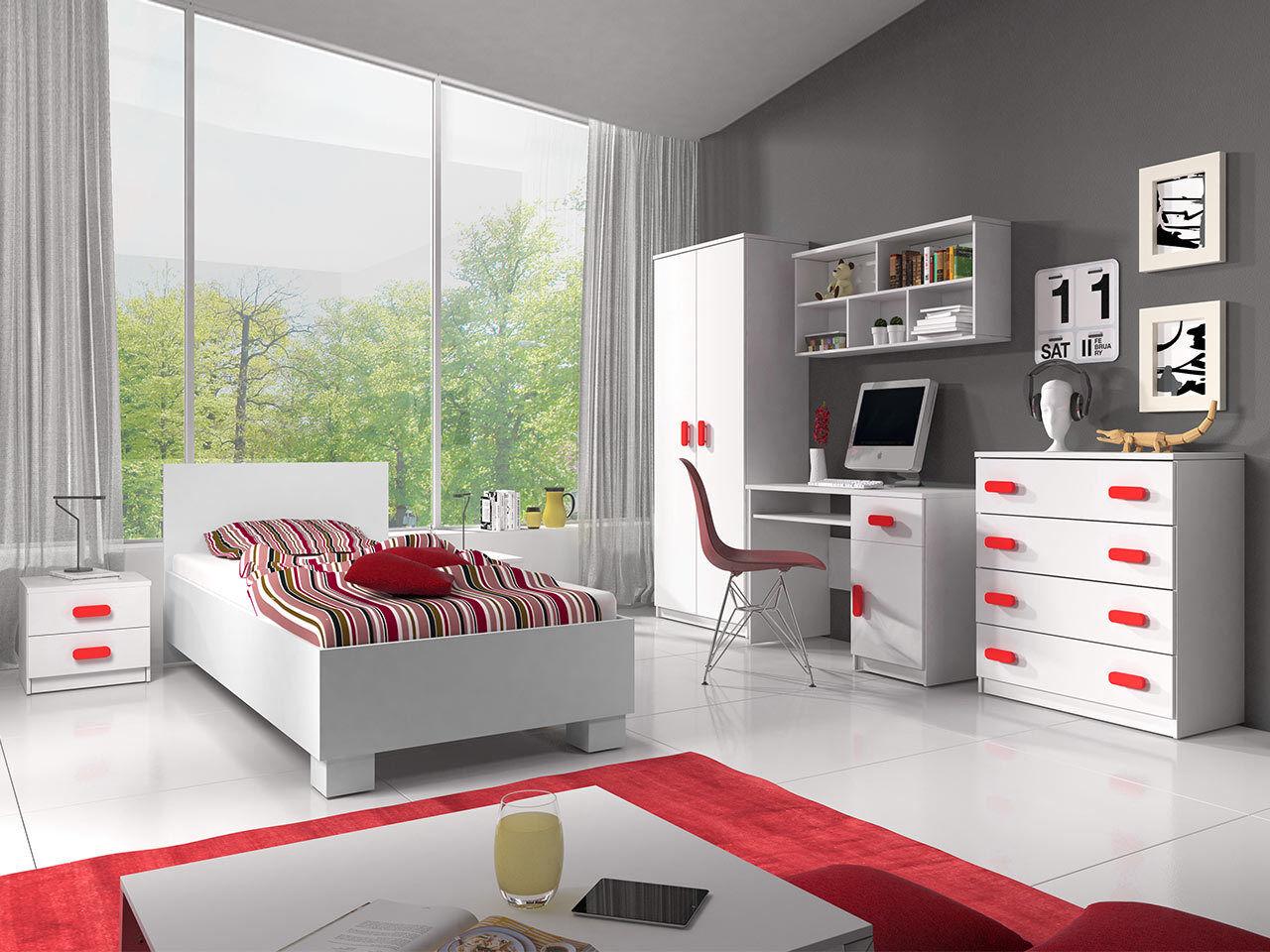 Jugendzimmer Jonas I Kinderzimmer Set Komplett Möbel Modern Design Schreibtisch