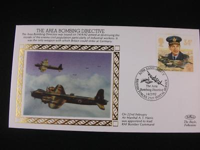 Benham Small Silk Stamp Cover  'Area Bombing Directive' from  WW 2 series issue