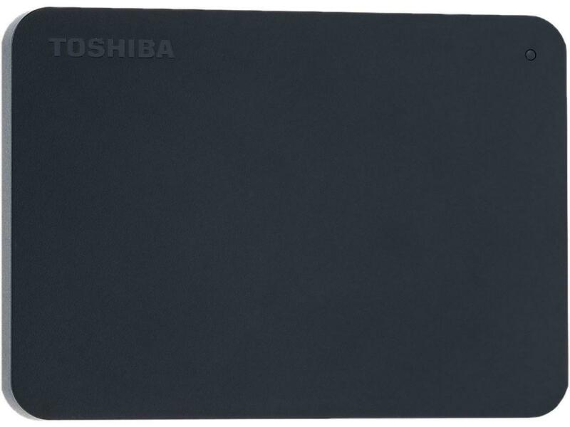 Toshiba Canvio Basics 1TB Portable External Hard Drive USB 3.0 Black - HDTB410XK