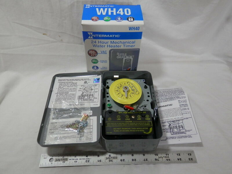 (1) NEW Intermatic WH40 Mechanical Timer 240 volt DPST On/Off WaterHeater Pool