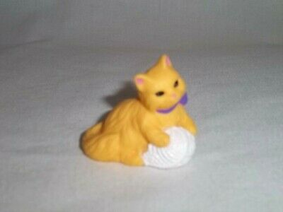 1998 FISHER PRICE Loving Family CAT Kitty Orange with Ball of Yarn DOLLHOUSE Lot
