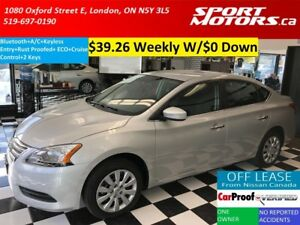 2014 Nissan Sentra Bluetooth+Cruise Control+Eco+Rust Proofed+A/C