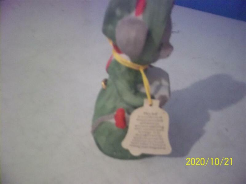 vintage hand crafted critter bell  by jasco with tag made in taiwan