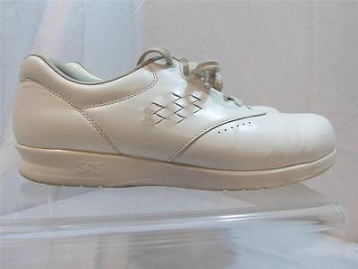 Sas Womens 10N Free Time White Leather Work Shoe Tri Pad Comfort System Usa Made
