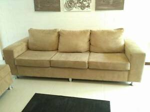 Large Creamy Three Seater Fabric Sofa In Excellent Condition Wembley Cambridge Area Preview