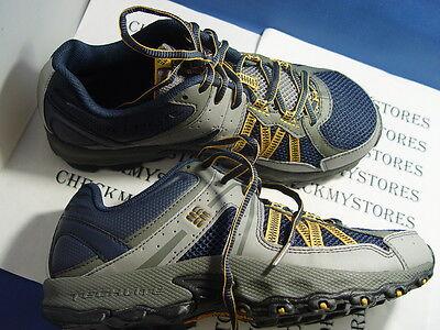 NIB COLUMBIA Switchback 2 Omni-Tech Trail Shoe dressblue golden glow,multi sizes - Omni Glow