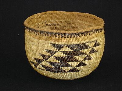 A Hupa Woven Basket, Native American Indian, Circa: 1910