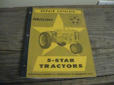 Vtg Minneapolis Moline 5 Star Tractors Repair Catalog R-1188a