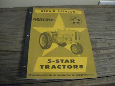 Vtg Minneapolis Moline 5 Star Tractors Repair Catalog R-1188a