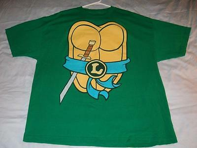 urtle TMNT Costume Cosplay Green T-shirt Men's 2XL used (Leo-ninja Turtle)
