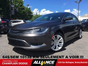 2016 Chrysler 200 10138 KM CAMERA RECUL,BLUETOOTH,