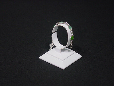 3.5h White Leatherette Bracelet Watch Bangle Jewelry Display Stand Rd19w1