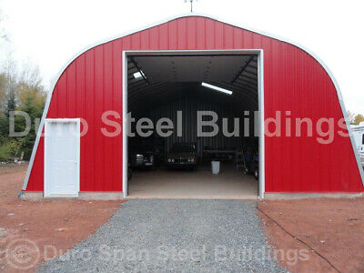 Durospan Steel 35x42x16 Metal Building Kit Home Shop Open Ends Factory Direct