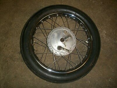 "Royal Enfield Front Wheel Hub 19"" Rim Dunlop 750cc Interceptor 1968  73"
