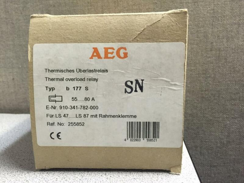 AEG B177S 55-80A THERMAL OVERLOAD RELAY 910-341-782-00 NEW QUANTITY!!