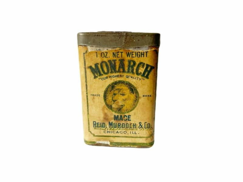 MONARCH Brand MACE Spice Tin 1 oz Vintage Antique