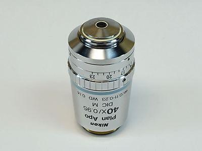 Nikon Plan Apo 40x0.95 Dic M 0.11-0.23 Wd 0.14 Microscope Objective