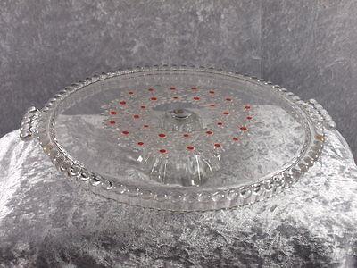 Walther Glas Kristallglas Fabiola Tortenplatte auf Fuß Kult der 60er 70er Jahre