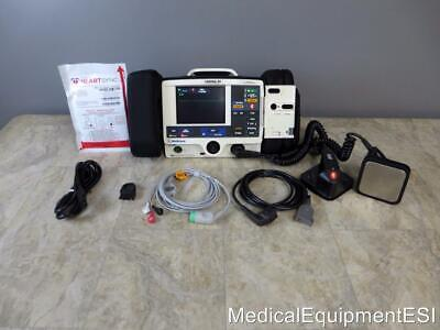Physio Control Lifepak 20 Biphasic 3 Lead Analyze Pacing With Paddles And Case