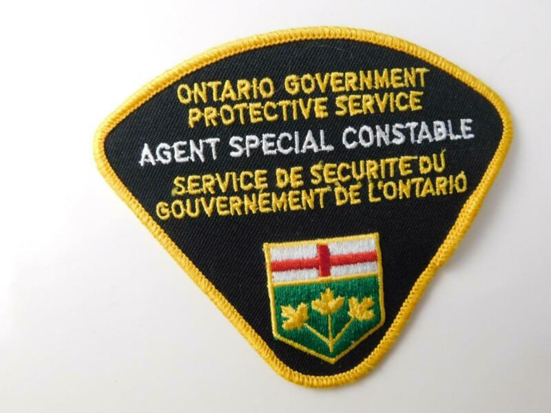 ONTARIO GOVERNMENT PROTECTIVE SERVICE POLICE SPECIAL CONSTABLE PATCH BADGE