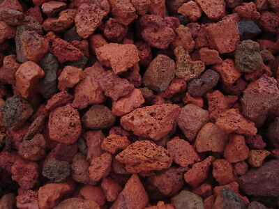 BEST LANSCAPING 18 LB RED LAVA ROCK AQUARIUM SUBSTRATE LOW MAINT.BEST ON EBAY!!!