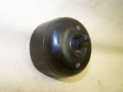 Old Bakelite Wall Light Switch Ap Toggle Switch, Art Deco