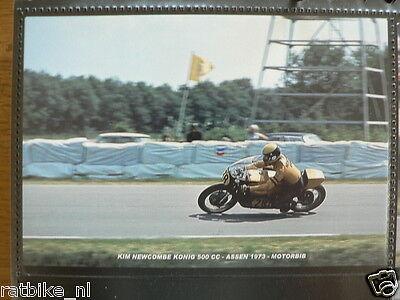 S0227-PHOTO- KIM NEWCOMBE KÖNIG 500 CC ASSEN 1973 NO 28 MOTO GP