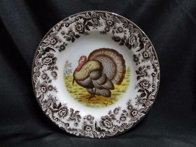 "Spode Woodland Turkey, Made in England: Salad Plate (s), 7 3/4"", NEW w/ Orig Box"