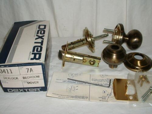 Dexter 3411 7A Dexlock Bedroom Privacy Doorknob Bronze NEW Made in USA