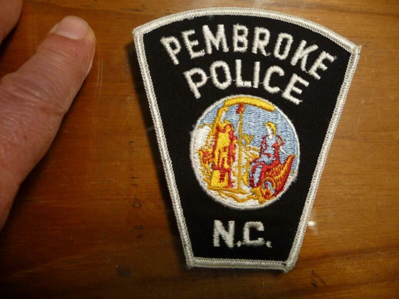 Vintage Pembroke North Carolina Police Patch Pristine Mint Condition SKU# 22210