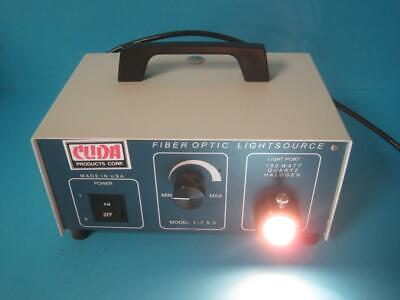 Cuda Products Fiber Optic Halogen Illuminator Light Source Mdl I-150 Tested