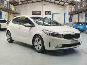 2016 Kia Cerato YD MY17 S (AV) Clear White 6 Speed Auto Seq Sportshift Hatchback Seven Hills Blacktown Area Preview
