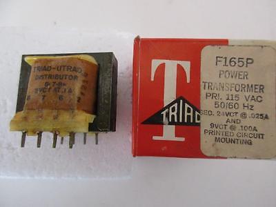 Triad Transformer F-165p Dual Sec 24 9 32 15 Vct .025 .1 .02 .06 A Pri 115v Pc