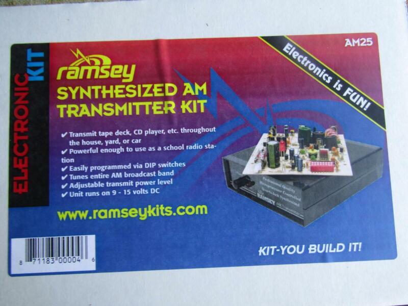 Ramsey Synthesized AM Transmitter Kit AM25 Inbuilt New
