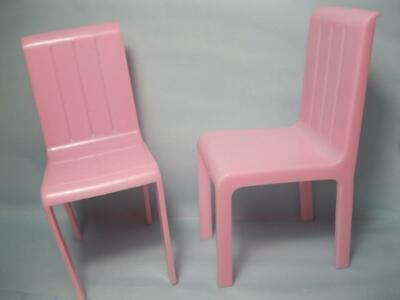 BARBIE doll dream TOWNHOUSE HOUSE FURNITURE kitchen TABLE: pink CHAIR SET 5.25""