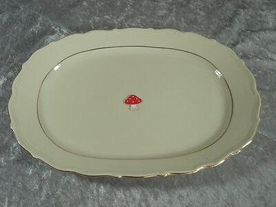 Mitterteich Elfenbein Porzellan 8726 Service Servierplatte Platte 31 cm um 1935