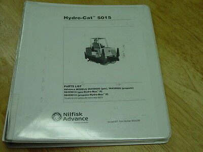Advance Hydro-cat Industrial Sweeperscrubber Model 5015 Parts List 2001 Oem