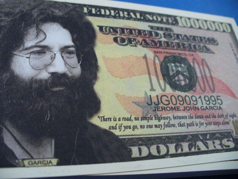 WHOLESALE LOT OF 100  JERRY GARCIA GRATEFUL DEAD fake MONEY novelty j USA dollar