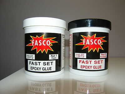 Fasco 110-fs Epoxy Glue Fast Setting 2 Parts 1 Quart Kit 32oz Of Epoxy Glue