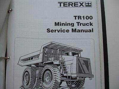Terex Tr100 Off-highway Mining Truck Maintenance Manual Service Shop Repair Oem