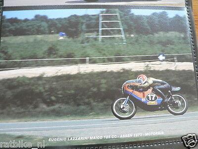 S0230-PHOTO- EUGENIO LAZZARINI MAICO 125CC ASSEN 1973 NO 17 SHELL MOTO GP