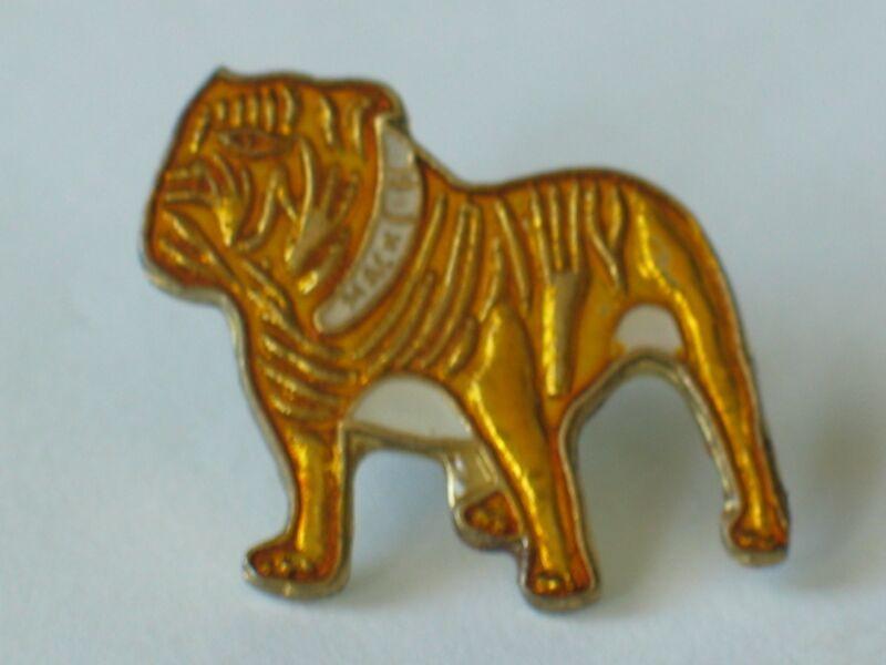 Bulldog Pin , Vintage Mack Bulldog Enamel Lapel Pin, Lapel Pin, Tie Tack