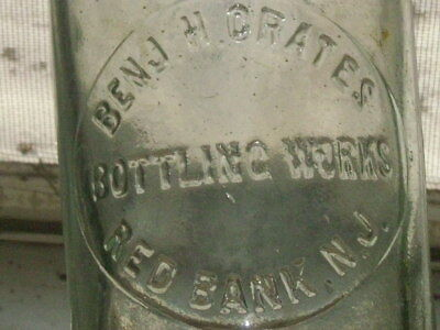 Rare blue blob top Benj. H. Crates Bottling  Works Red Bank, N. J.