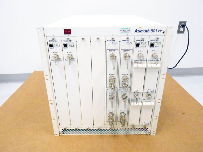 AZIMUTH 801W WLAN TEST PLATFORM EIGHT-SLOT MAINFRAME TMM-101 RFM-102 STM-412