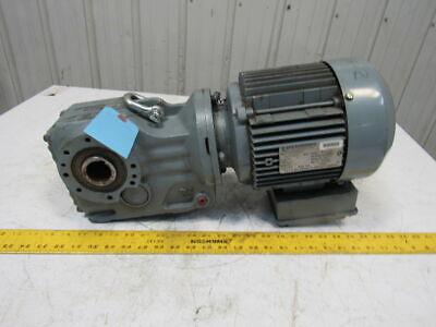 Sew Ka47dt90l4 10.56 1 Ratio 2hp 230460v 163rpm Thru Shaft Output Gear Motor