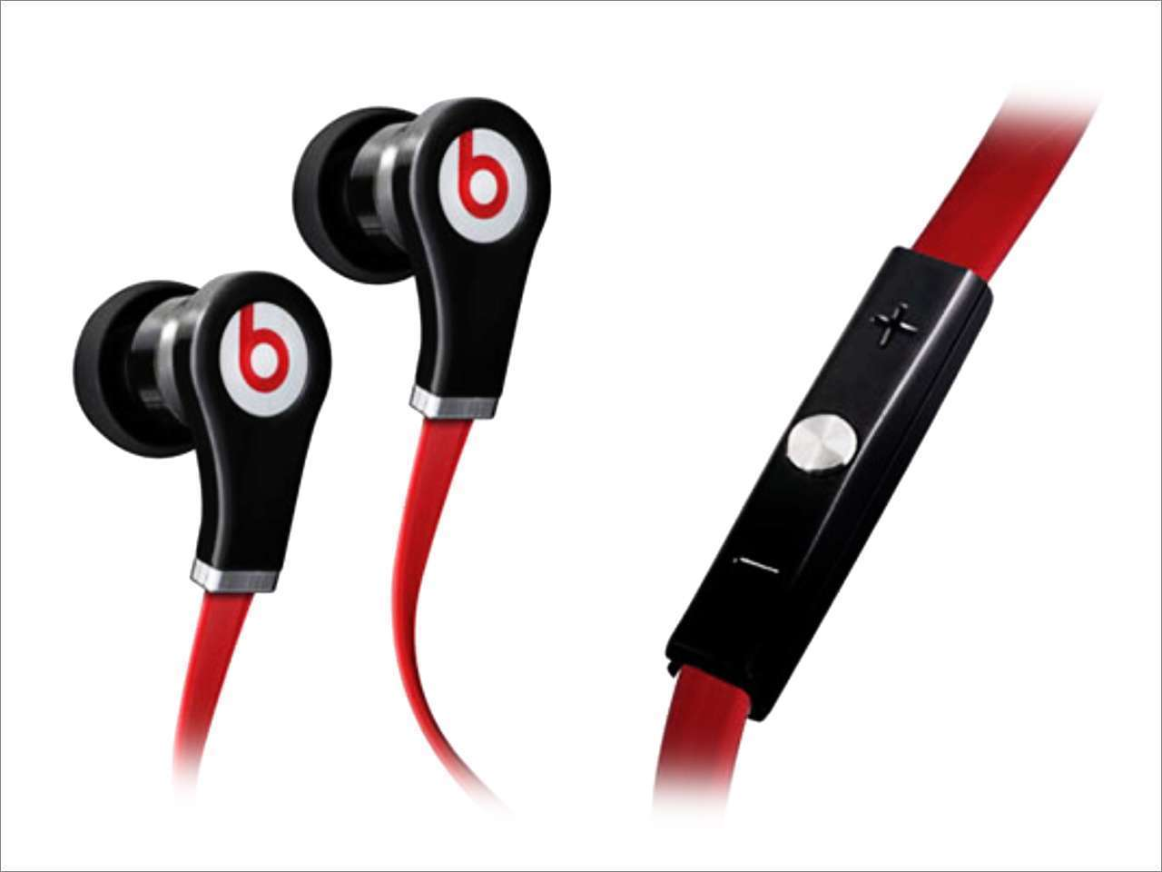 Beats By Dre - Beats by Dr. Dre Tour In-Ear Earbuds Headphones with Remote & Mic - Black / Red