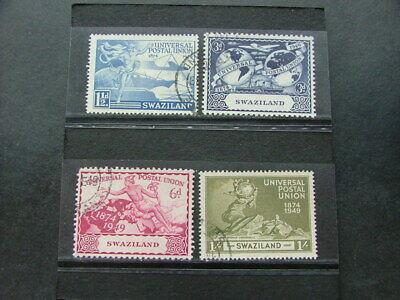 Swaziland 1949 UPU Issue SG48-51 FU