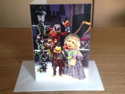 THE MUPPETS CHRISTMAS CAROL DVD INSPIRED CARD CHRISTMAS WIFE SECRET SANTA for sale  Airdrie