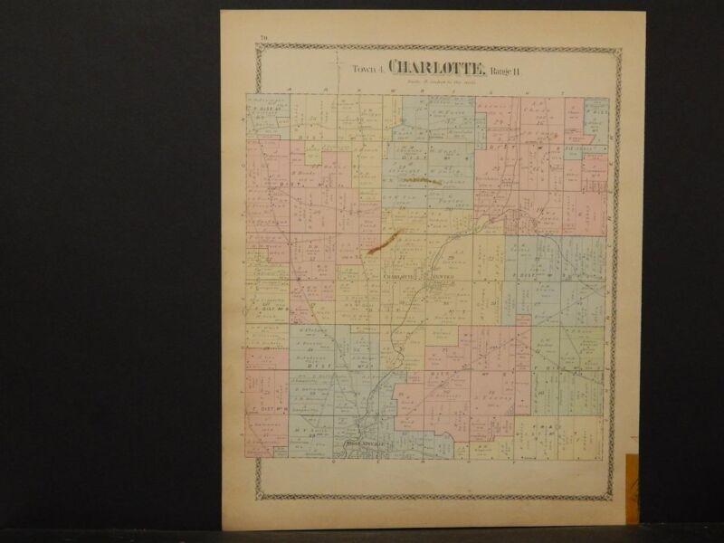 New York, Chautauqua County Map, 1881 Township of Charlotte !J2#05