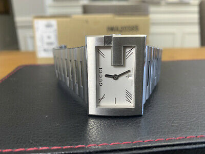 Men's Gucci Large 38mm G-Rectangle Stainless Steel Wrist Watch! Model 100M!